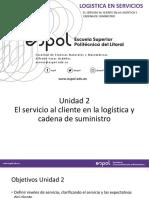 Logistica en servicios (Sesión 3)