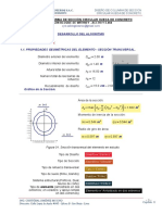 DIAGRAMA DE INTERACCIÓN DE COLUMNA DE SECCIÓN CIRCULAR HUECA DE CONCRETO REFORZADO