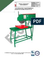 A3-G02 MANUAL OPERACION Y MANTENIMIENTO CORTADORA DE ADOBE FC-16