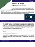 CURRÍCULO DA CIDADE - TECNOLOGIAS DE APRENDIZAGEM - EF