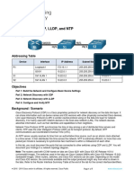 10.8.2 Lab Configure Cdp, Lldp, And Ntp.pdf Answer
