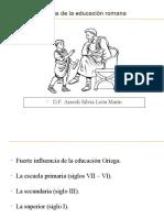 Tema N°04    Etapas de la educación romana ok