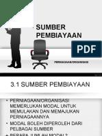 BAB 3.0 SUMBER PEMBIAYAAN