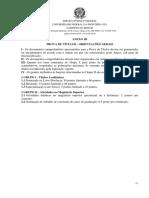 EDITAL Nº 66 GR UFFS 2020 - PROCESSO SELETIVO SIMPLIFICADO 001 CHAPECÓ PARA CONTRATAÇÃO DE PROFESSOR DE MAGISTÉRIO SUPERIOR SUBSTITUTO - ANEXO III