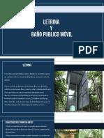 9)Letrina y Baño publico movil