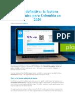 Guía definitiva. la factura electrónica para Colombia en 2020