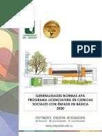 NORMAS APA SOCIALES 2020