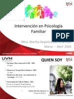 Presentación de Materia LX  Intervencion en Psicologia Familiar 20 Mtra. Martha Sierra