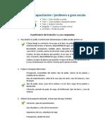 Plan de capacitación  Jardinero a gran escala – Cuestionario de la lección 2
