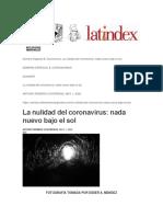 Nulidad Filosófica Coronavirus RM ARC