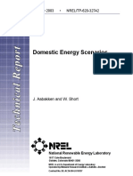 DOMESTIC ENERGY SCENARIOS