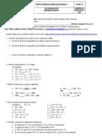 Taller Evaluativo Matematicas Sexto