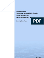 Guidance on the Management of Life Cycle Maintenance Wire Ropes