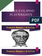 famous filipino playwrights
