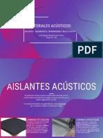 materiales acusticos