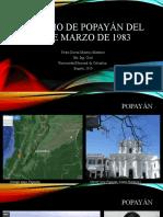 El SISMO DE POPAYÁN DEL 31 DE MARZO