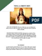 Novena a Cristo Rey