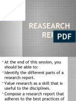 REASEARCH REPORT