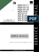 Aiwa NSX-S 111 NSX-S 112 NSX-S 116 NSX-S 16  XG-S 111 XG-S 125  XG-S 126  XG-S 128
