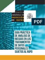 Guia AEPD - Analisis de Riesgos - RGPD I