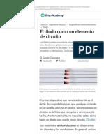 El diodo como un elemento de circuito