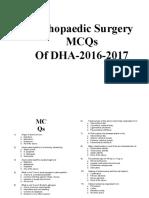 DHA (16-17)Orthopaedics-MCQs with ans