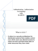 AAA with radius