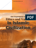 English Importance of Ethics and Values in Islamic Civilization