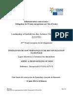 Lignes directrices Liane Axe 1