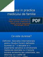 Durerea in practica medicului de familie