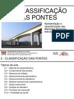 2 CLASSIFICACAO DAS PONTES