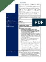 JD - Eidiko Systems Integrators Pvt Ltd
