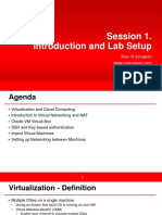 Session 1 Introduction and Lab Setup