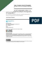 Quatre conceptions de la géographie scolaire - un modèle interprétatif des pratiques d'enseignement de la géographie -