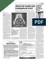 OBSERVADOR 12 MAYO  ESTADO TRABA SUBASTA DE CUADRO POR PLANTEO DEL GOBIERNO DE PERU