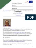 Replicabilità del modello educativo Chance - Clotilde Pontecorvo