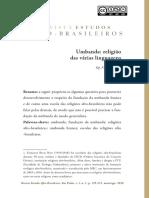 Umbanda religião de várias linguagens