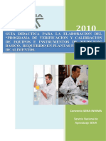 PROGRAMA DE VERIFICACION Y CALIBRACION DE EQUIPOS E INSTRUMENTOS DE MEDICION.doc