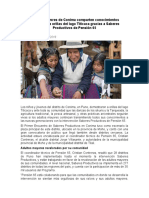 Adultos mayores de Conima comparten conocimientos ancestrales a orillas del lago Titicaca gracias a Saberes Productivos de Pensión 65