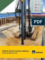 Folder Perfis Estruturais Gerdau - Estacas Metálicas
