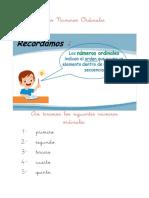 Los Números Ordinales Cuaderno (1)