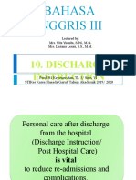 #10 Discharge Instruction