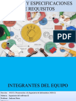 ANALISIS Y ESPECIFICACIONES DE REQUISITOS PRESENTACION III