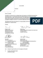 ICC Sanctions Letter to Trump
