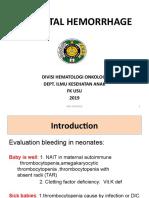 Neonatal Hemorrhage
