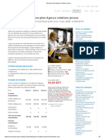 Business-plan Agence relations presse