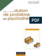 Pascal Antoine, Rollon Poinsot - La resolution de probleme en psychotherapie