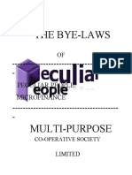 Peculiar Byelaw Corrected