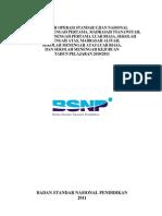 Prosedur Operasi Standar Ujian Nasional Tahun 2011