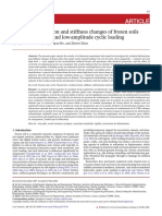 Residual deformation and stiffness changes of frozen soils subjected to high- and low-amplitude cyclic loading.